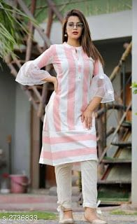 Designer Cotton Printed Kurta And Palazzo Set - Designer Dresses Couture