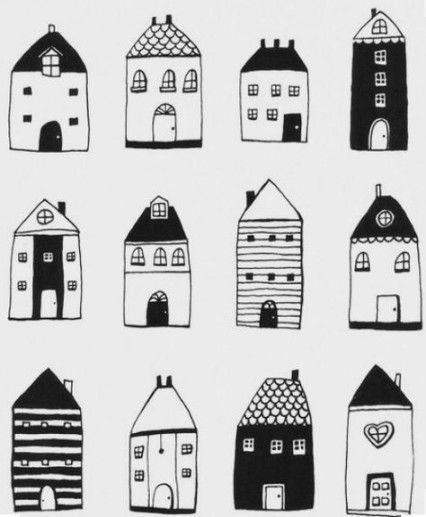 28 Ideas For House Illustration Black And White House