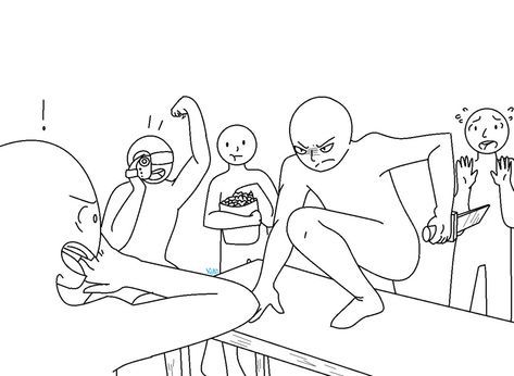 Drawing Poses Group Funny 54 Best Ideas Drawing Poses Funny Poses Drawings Of Friends