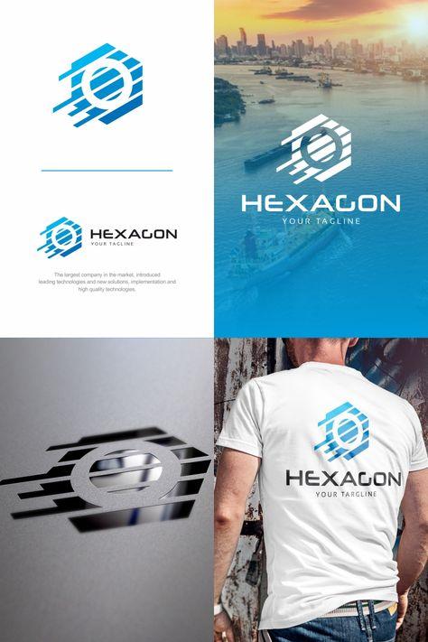 Hexagon Logo Template #74218
