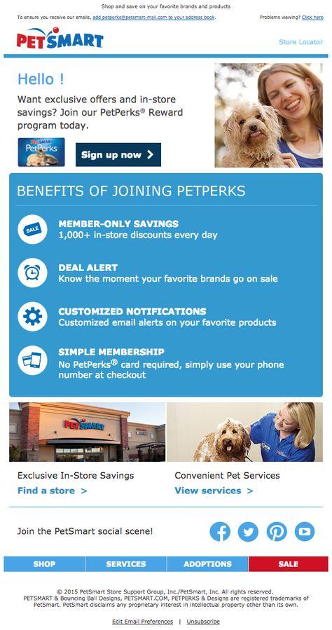 Petsmart Welcome Email Rewards Program Pet Smart Store Welcome