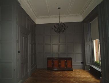 painted wood wall paneling Wood paneling Pinterest Painted