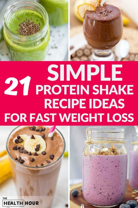 carb protein shake to lose weight Protein shakes are a great way of losing weight healthily. These protein shake recipes are a great start for your weight loss journey Protein Brownies, Protein Desserts, Protein Snacks, Protein Dinner, Protein Shake Ingredients, Low Carb Protein Shakes, Chocolate Protein Shakes, Healthy Shakes, Protein Shake Weight Loss