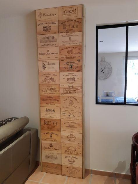 Estampes De Caisses De Vin Pour Cacher Un Compteur Electrique