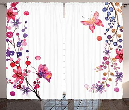 Butterfly Curtains For Beauty And Feminine Aura At Home Floral