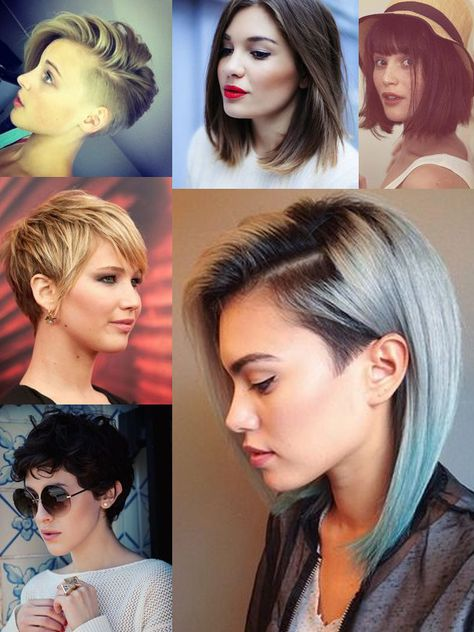 Hair Trends: What's Hot & Whats Not In 2015? - the short crop in the bottom left corner is what really lit me up, here.
