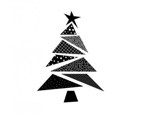 Pack De 6 Noël Imprimé en Bois Décorations pour arbres-rennes et Tree Design