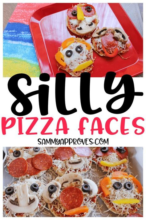 These Silly Pizza Faces were a hit with my kids. They got so into creating their mini pizzas that they forgot they were eating mushrooms and bell peppers. Great recipe for picky eaters? I think yes! I also love this for summer lunches and have added it to