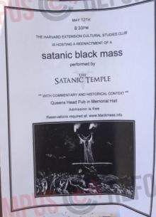 Satanic Black Mass 'Reenactment' Set For Harvard University on May 12.  Wow, Their not hiding anymore, blatant, in the open, pray for our young people.