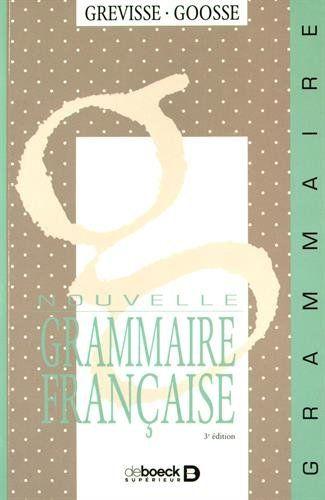 Nouvelle Grammaire Francaise Francais Book Club Books Books Letters
