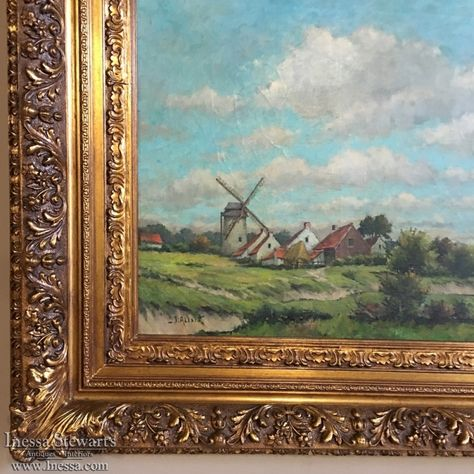 Antique Painting on Canvas by J.Alexis in Original Frame