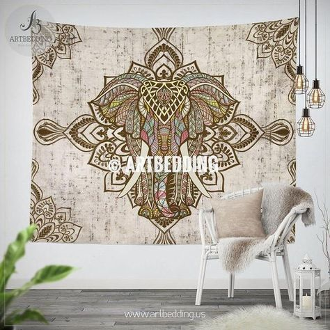 60 H x 80 W, Gold Leaf Shukqueen Tapestry Gold Leaf Print Wall Hanging Tapestry Dorm Decor