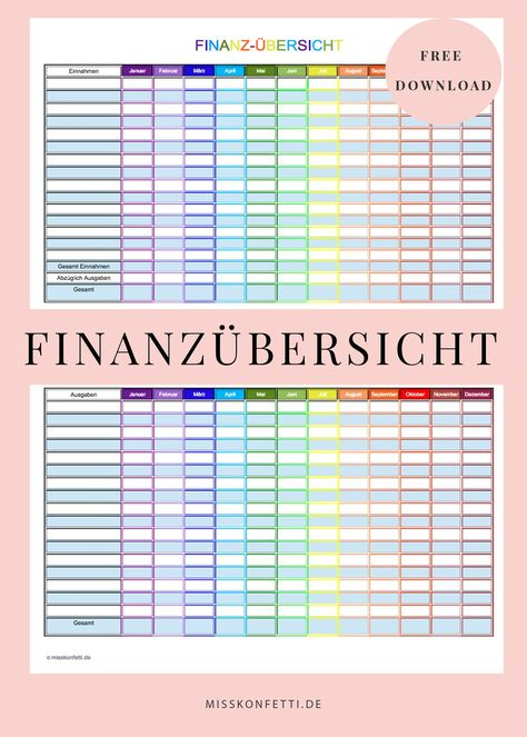 Finance under control with the budget book Che… Finanzen im Griff mit dem Budgetbuch Che … – Eine Plattform mit allen Designs
