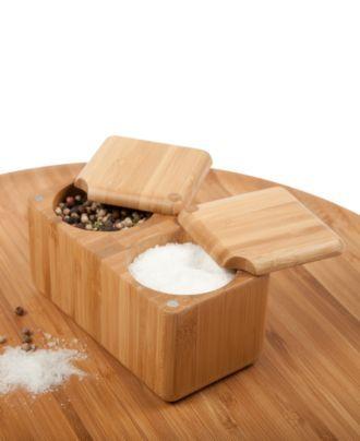 Love this!  Core Bamboo Salt Box, Double Square Box - Kitchen Gadgets - Kitchen - Macy's
