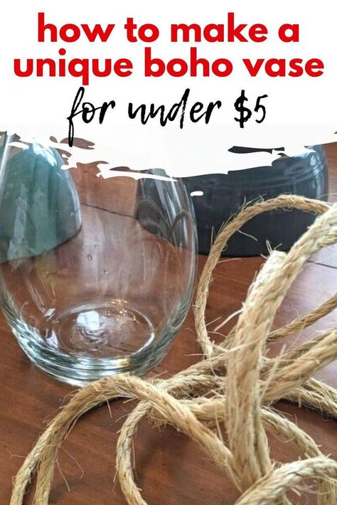 Budget friendly boho vase centerpiece for living room coffee table or dining table centerpiece.