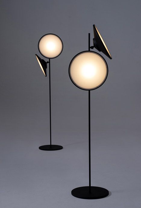 Lamps with moon-like faces.