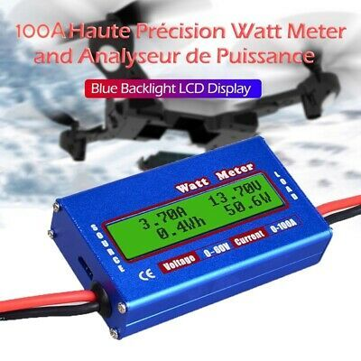 DC 60V 100A Balance Voltage Battery Power Analyzer Watt Meter Checke Blue