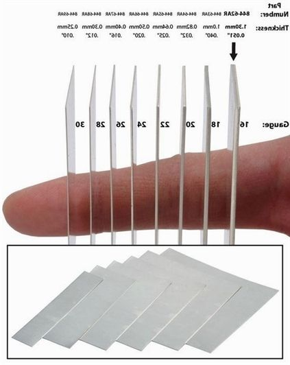 Visual Chart Of Plate Thickness In Guage And Millimeter Jewelrytips Jewelry Making Cleaning Jewelry Jewelry Making Supplies