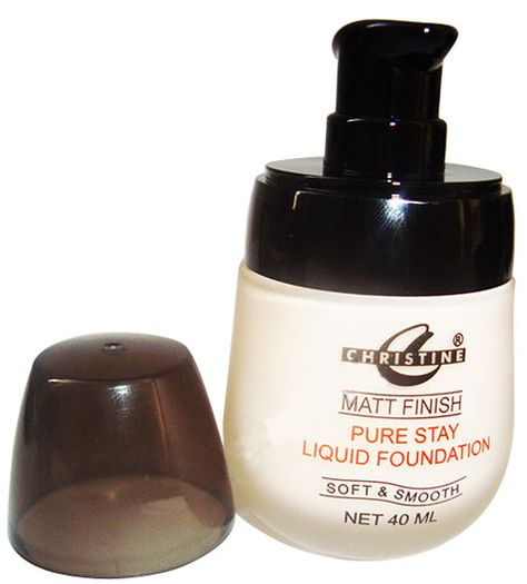 Christine Liquid Foundation Matte Finish Beauty Salon Supplies Liquid Foundation Salon Supplies