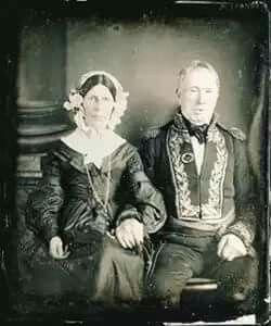 DAGUERROTIPO DEL ALMIRANTE BROWN Y SU ESPOSA, es la fotografia mas antigua del pais conservada | Daguerrotipo, Fotografía antigua, Fotos antiguas