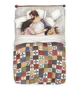 Quilt Cuddles Art Print