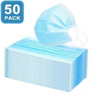 Disposable Face No Breathing Valve FDA certific Thick 3Ply dust Protection 100 Pieces