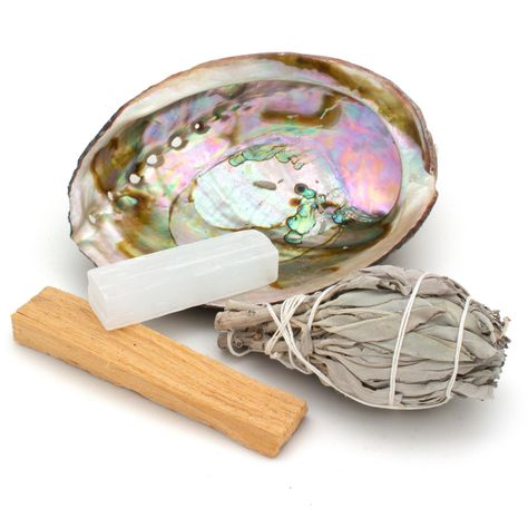 Energy Clearing Kit With Sage, Palo Santo & Crystal