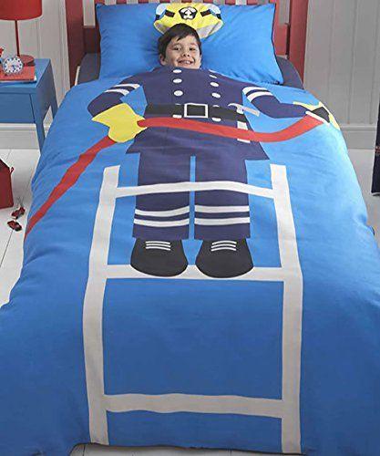 Witzige Feuerwehr Bettwasche Fur Kinder Bettwasche Kinder