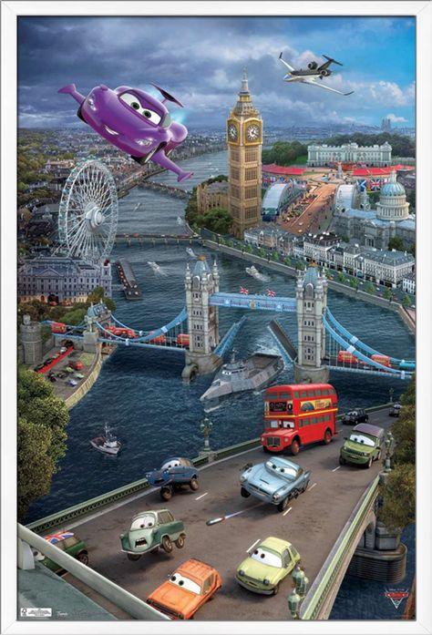 Disney Pixar Cars 2 - Triptych 2 Poster