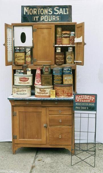 pretty hoosier cabinet