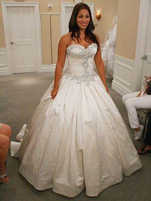 Classic Sparkly Crystal Pnina Tornai Wedding Dresses Sweetheart Ball ...