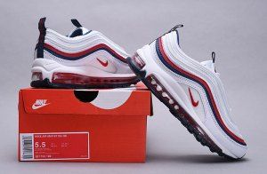 Nike Air Max 97 Red Crush White Red Crush Blackened Blue 921733 102 Women S Men S Casual Shoes Nike Air Max 97 Nike Air Max Running All Black Nike Shoes
