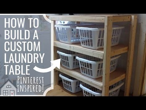 How To Build A Laundry Sorting Shelf