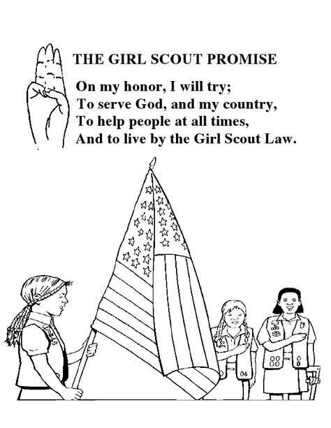 Girl Scout Promise Coloring Sheet | Girl Scout Daisies | Pinterest
