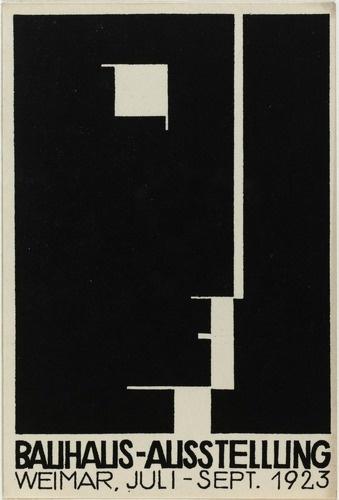 Bauhaus Exhibition, Weimar (1923). Black & white.