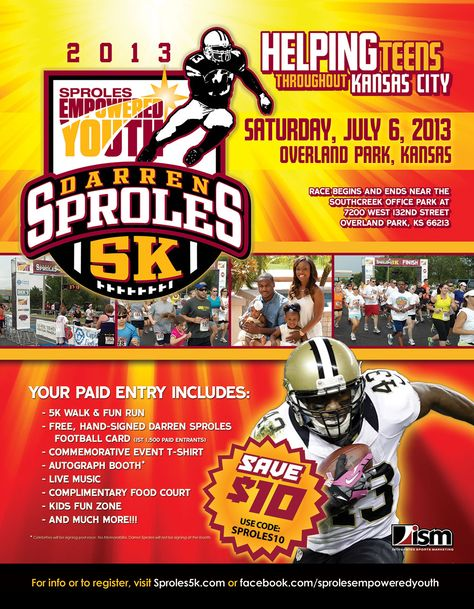 This Saturday Is The Darren Sproles 5k In Overland Park The
