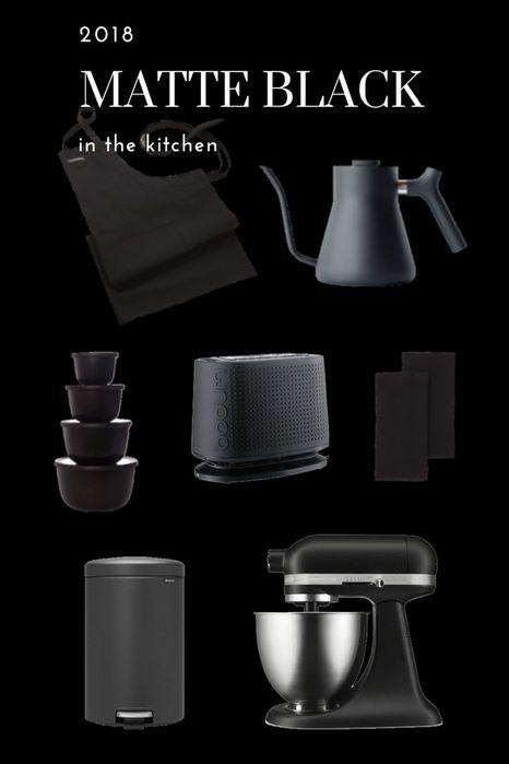 Statement Bold Kitchen Appliances And Accessories In Matte Black Matte Black Kitchen Accessories Matte Black Kitchen Black Kitchen Accessories