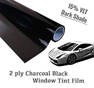 The Online Liquidator 36 X10 Feet Black Window Tint Film Roll Dark Shade 15 Vlt For Car And Reside Window