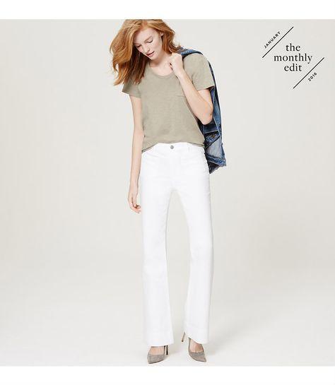 In Bright White Our Wide Leg Trouser Jeans Define
