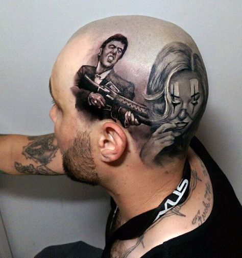 Tatuaż Na Głowie Dla Faceta Tattoos Wzory Tatuaży