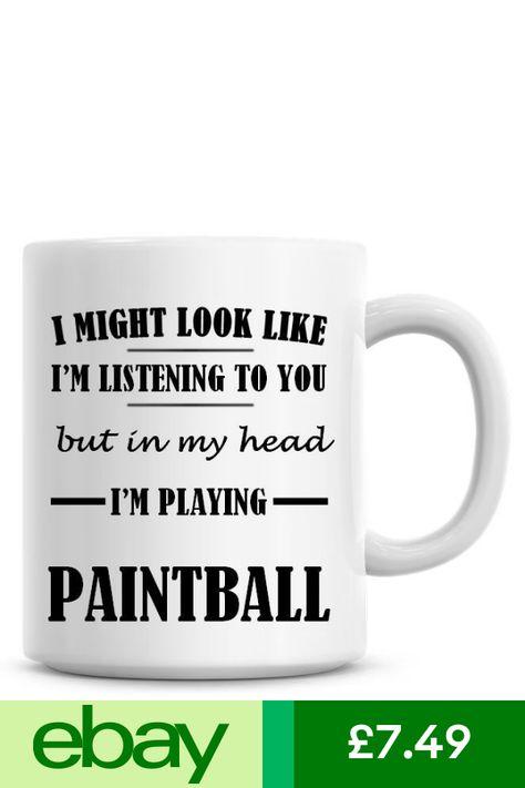 LISTENING I/'M PLAYING PAINTBALL Novelty//Funny Printed Coffee//Tea Mug Gift O717
