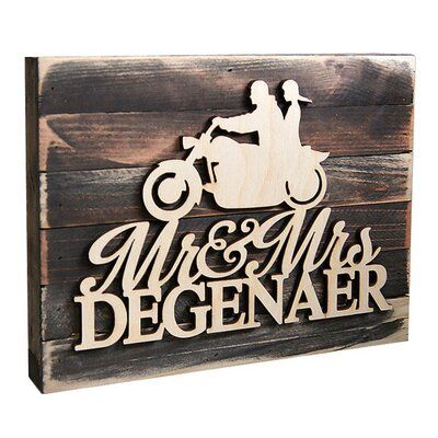 Motorcycle Wood Sign Motorcycle decoration Personalized Motorcycle Wall Art Custom Motorcycle Wall Decor