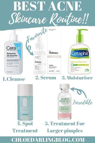 Best Acne Skincare Routine In 2020 Acne Prone Skin Care Acne Skincare Routine Skin Care Acne