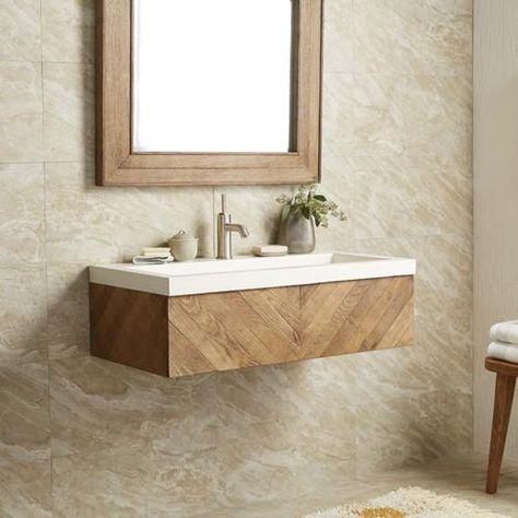 Native Trails Chardonnay Floating Vanity Floating Bathroom