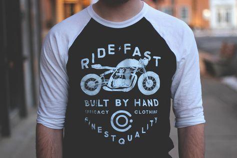 CAFE RACER HRC FCK FEAR MOTORCYCLE T SHIRT BOBBER MEN/'S T SHIRT,