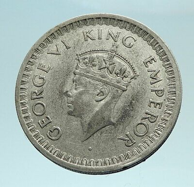1944 India States Uk King George Vi Genuine Silver 1 2 Rupee Indian Coin I79477 Trustedcoins King George George Vi Coins
