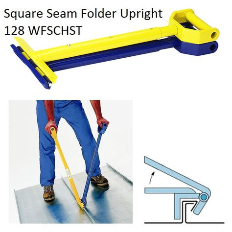 Square Seam Folder Upright 128 Wfschst This Tool Is Designed For Single Lock Seams 90 Lock Or For Smart Door Locks Metal Panels Facade Standing Seam Roof
