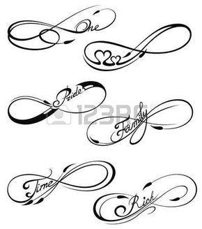 Stock Photo Tatuaje Infinito Dibujos De Diseno De Tatuajes