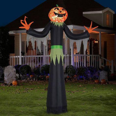 Animated Inflatable Airblown Projection Kaleidoscope Pumpkin Man Halloween Décor