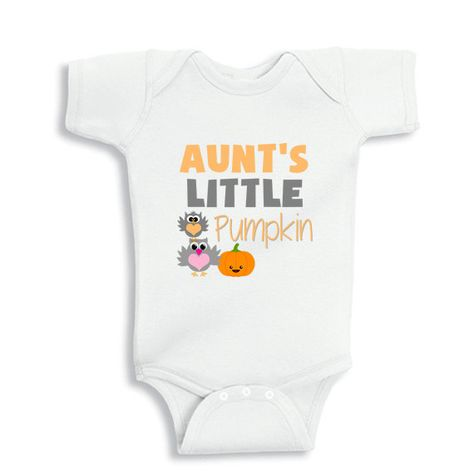 Aunt's little Pumpkin baby bodysuit or Infant by babyonesiesbynany, $10.75